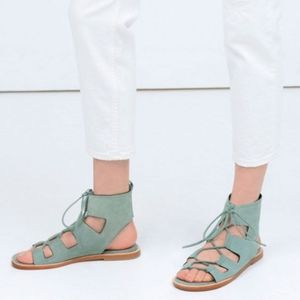Zara leather roman sandal